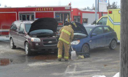Un accident de la route fait trois blessés mineurs à Joliette