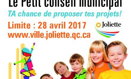 Le Petit conseil municipal:  TA chance de proposer des projets!