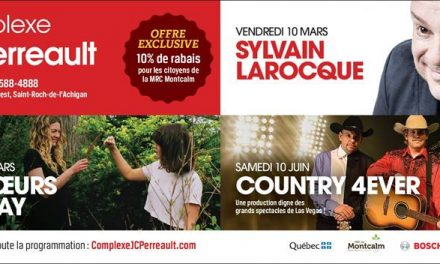 Sylvain Larocque et les Sœurs Boulay en spectacle au Complexe JC Perreault