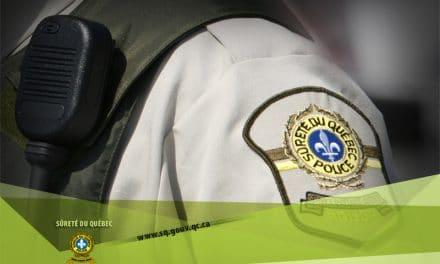 Saint-Ambroise-de-Kildare : un chauffard arrêté après avoir fait des tonneaux