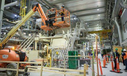 Le chantier de la machine no. 8 est presque terminé à la Kruger