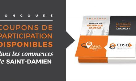 Un concours de la Corporation de développement de Saint-Damien pour encourager l'achat local
