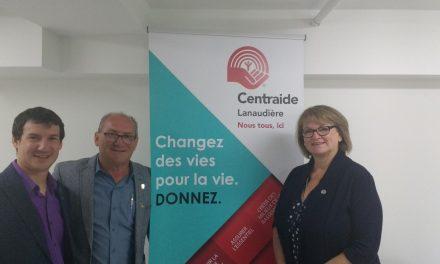 Centraide Lanaudière aura deux coprésidents d'honneur pour sa campagne 2017