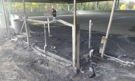 Incendie suspect à la patinoire du parc Casavant-Desrochers