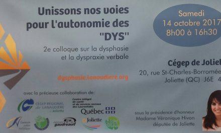 Deuxième colloque Lanaudois sur la dysphasie et la dyspraxie verbale