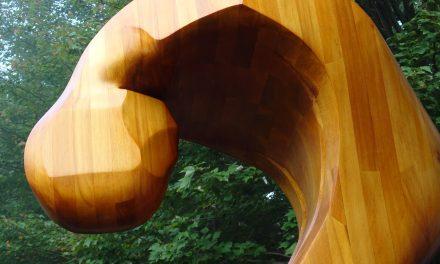 Dévoilement de la sculpture permanente Introspection à Maison et jardins Antoine-Lacombe