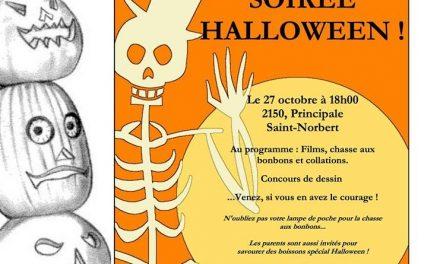 On fête l'Halloween à Saint-Norbert le 27 octobre