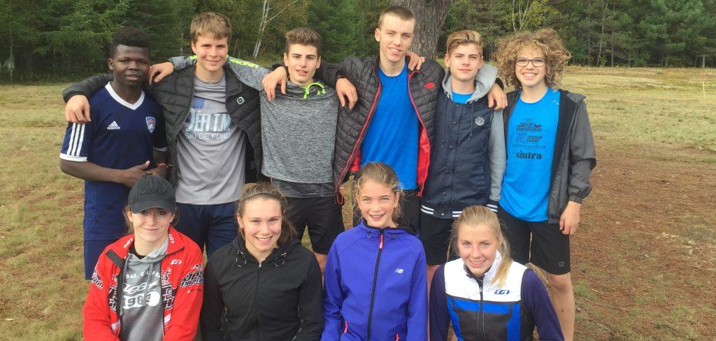 Les programmes sports-études triathlon et ski de fond Thérèse-Martin font belle figure en cross-country