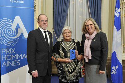 Jacqueline Flamand-Ottawa, lauréate du Prix Hommage Aînés dans la région de Lanaudière