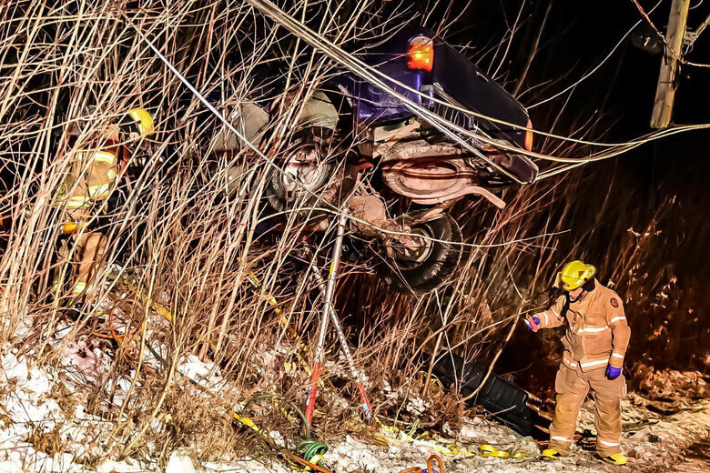 Grave accident de la route à Saint-Lin-Laurentides