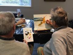 Les personnes atteintes d'Alzheimer contribuent à la création d'une murale de l'artiste-peintre John-Ryan