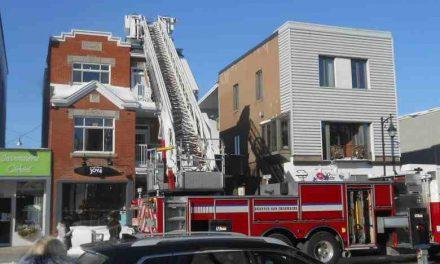 Un incendie éclate dans le centre-ville de Joliette