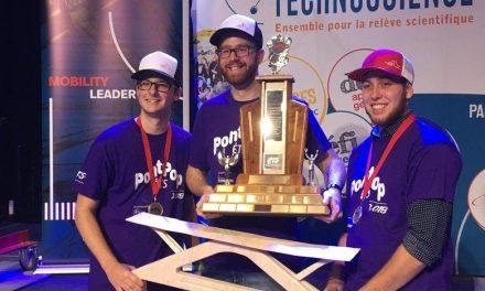 Trois étudiants du programme de Technologie du génie civil du Cégep à Joliette raflent le premier prix du concours PontPop