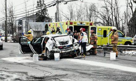 Quatre blessés dans un accident de la route à Saint-Lin