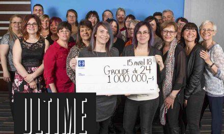 Un groupe de collègues remporte un des gros lots de la loterie 100 $ ULTIME