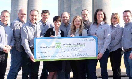 La Fondation pour la Santé reçoit une généreuse contribution de 100 000 $ du Groupe CRH Canada inc. – Cimenterie de Joliette