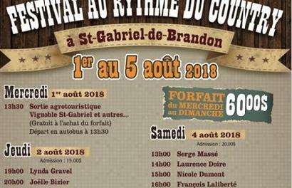 Le Festival Au Rythme du Country à Saint-Gabriel!