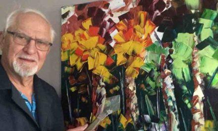 Gaétan Gauthier, gagnant du prix « J'expose à la Bibliothèque » présente ses toiles à Lavaltrie !