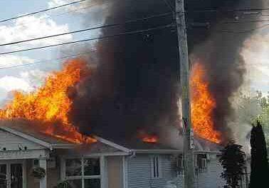 Incendie à la bibliothèque de Saint-Lin