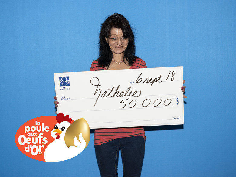 50 000 $ Pour une résidente de Lanaudière gagne un beau montant à La Poule aux œufs d'or!