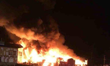 Incendie majeur au chalet de la station de ski Val-Saint-Côme