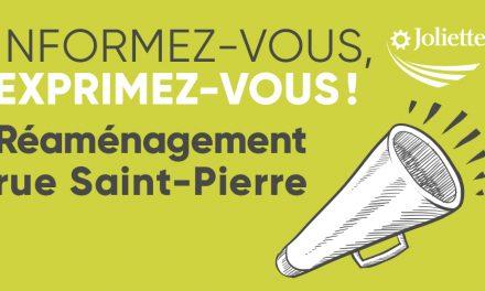 Réaménagement de la rue Saint-Pierre Séance d'information à venir