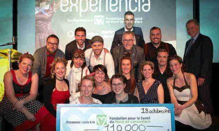 Quelle fierté d'avoir amassé 110 000 $ net à la 2e édition d'Experiencia pour la santé de la communauté!