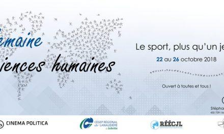 Invitation pour participer à la Semaine des sciences humaines!
