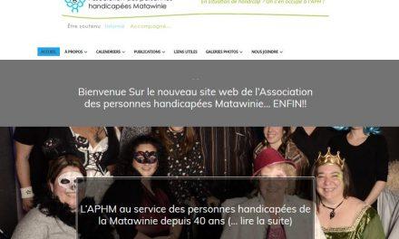 Nouveau site Web de l'Association des personnes handicapées Matawinie