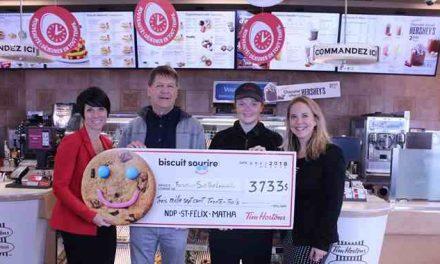 La Fondation pour la Santé du Nord de Lanaudière recevra 3 733 $ grâce à la campagne du Biscuit Sourire de Tim Hortons