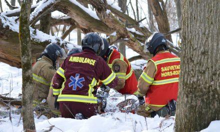 Simulation d'une intervention en situation de sauvetage hors route pour le SSI de la MRC de D'Autray
