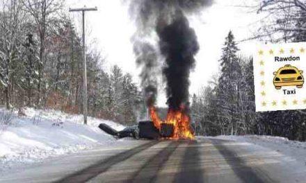 Chertsey : une collision provoque un incendie