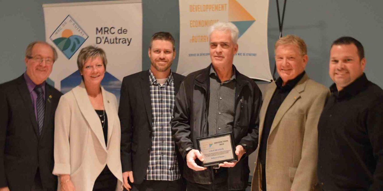 Sept prix Distinction remis par Développement Économique D'Autray