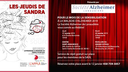 La Société Alzheimer de Lanaudière vous convie au théâtre!
