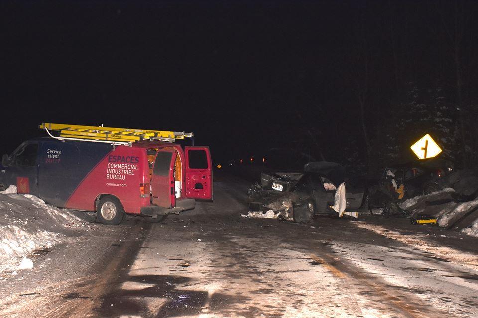 Rawdon : une collision frontale fait deux blessés