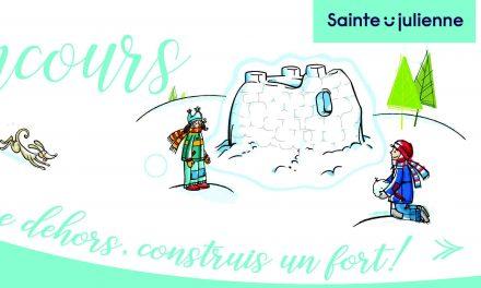Sainte-Julienne : c'est le temps de s'inscrire au concours « Joue dehors, construis un fort! »