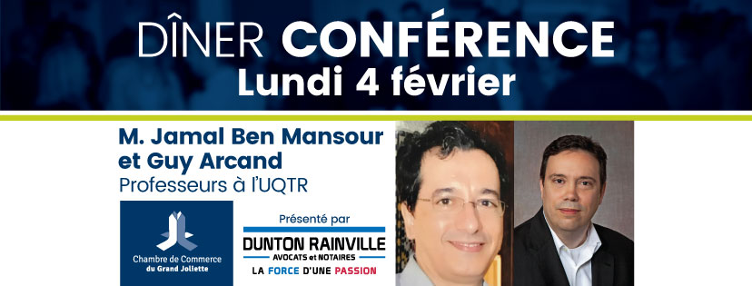 La CCGJ accueille en février les professeurs Jamal Ben Mansour et Guy Arcand de l'UQTR