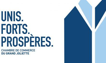 La Chambre de Commerce du Grand Joliette, UNIS. FORTS. PROSPÈRES.