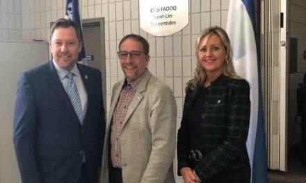 À l'écoute des régions – Le gouvernement du Québec octroie plus de 786 000 $ à la Ville de Saint-Lin-Laurentides
