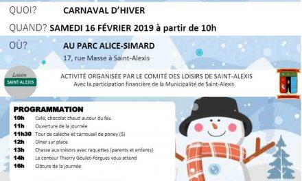 Troisième édition du Carnaval d'hiver de Saint-Alexis