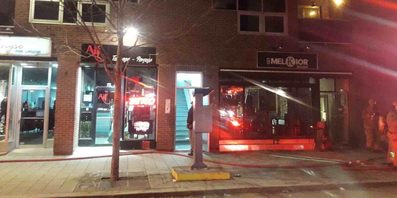 Début d'incendie dans le centre-ville de Joliette