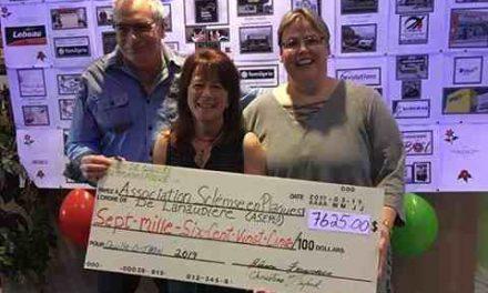 7625 $ pour la sclérose en plaques dans Lanaudière!