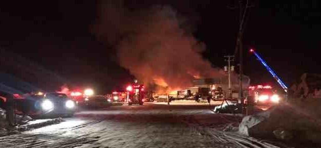 Saint-Jean-de-Matha : la Scierie Dumais détruite par un incendie
