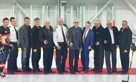 Mise au jeu officielle – Tournoi de hockey des pompiers du Québec