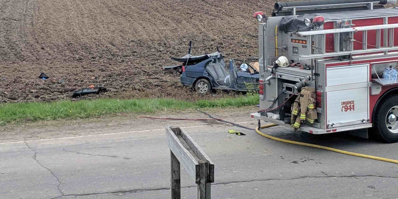 Grave accident de la route à Saint-Mélanie