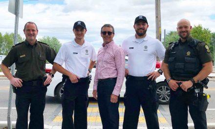 Surveillance de quartier par des cadets policiers à Lavaltrie
