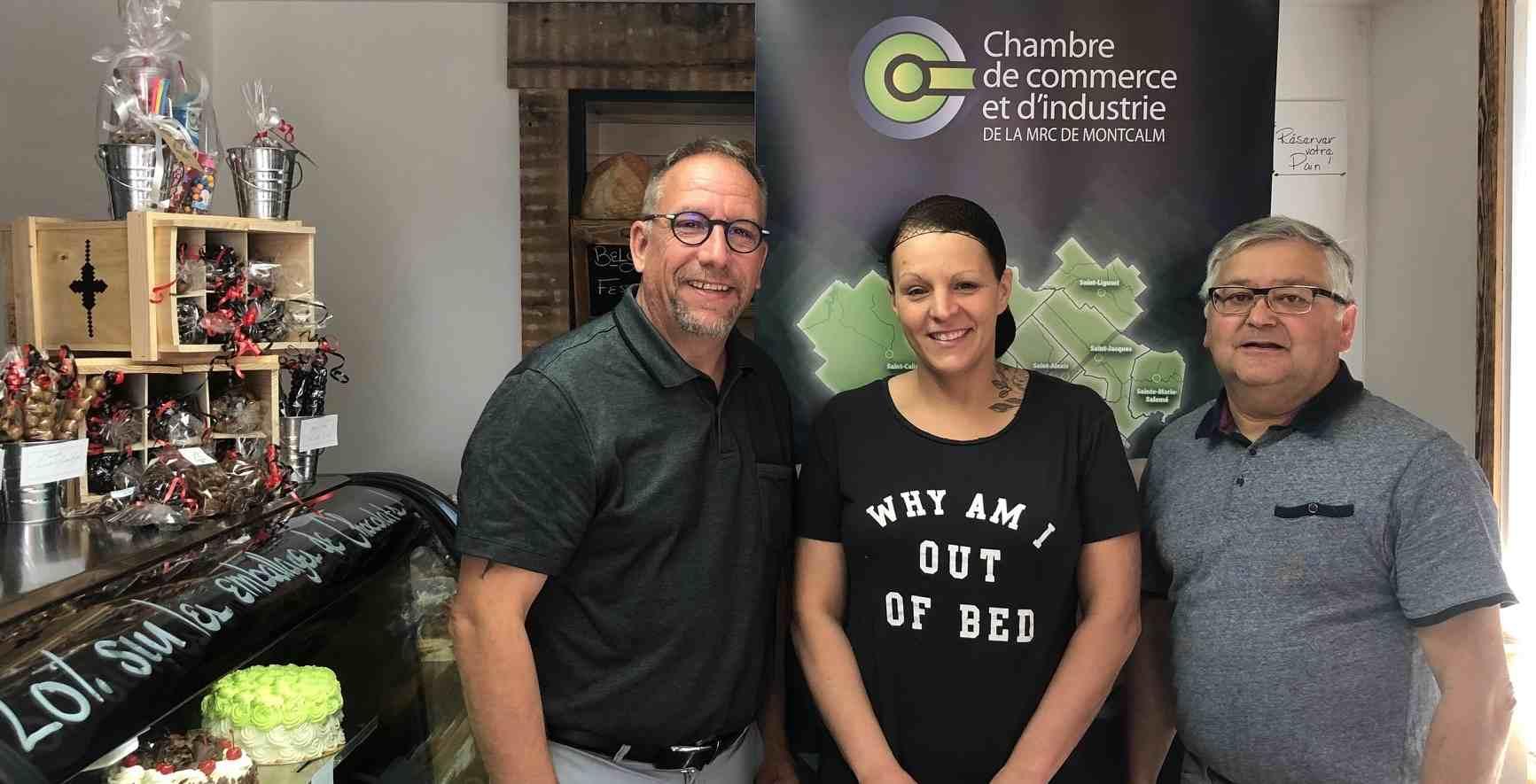 La Chambre de commerce et d'industrie de la MRC de Montcalm, a remis, ce 18 juin, deux Trousse de bienvenue à de nouvelles entreprises de Saint-Lin-Laurentides :