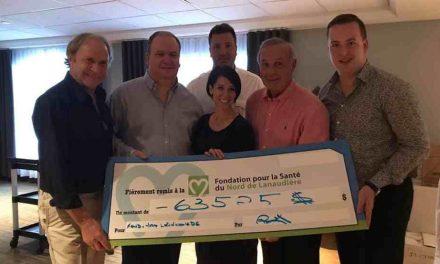 La famille Chalut remet 63 525 $ à la Fondation pour la Santé avec son Omnium de golf André-Chalut;