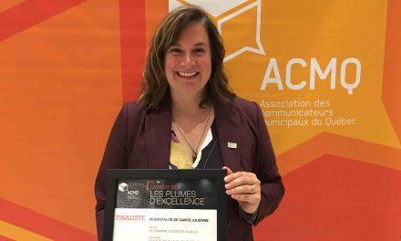Sainte-Julienne finaliste au concours des Plumes d'excellence de l'Association des communicateurs municipaux du Québec – ACMQ