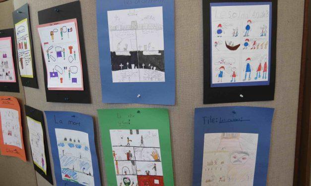 Projet Identité et patrimoine : vernissage des élèves de 4e année